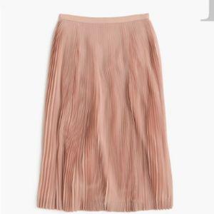 J. Crew Micro-pleated midi skirt